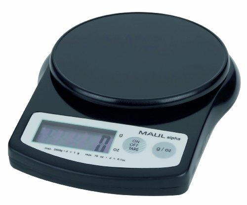 MAULalpha Briefwaage, Tragkraft: 2.000 g, schwarz