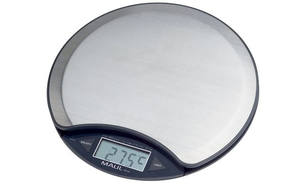 MAULdisk Briefwaage, Tragkraft: 5.000 g, nickel