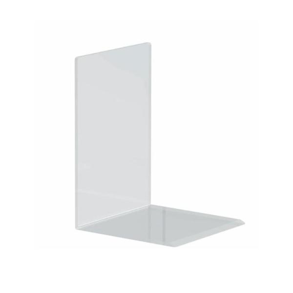 MAUL Buchstütze aus Acryl, glasklar, 120 x 120 x 170 mm