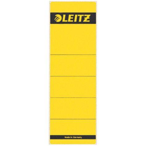 LEITZ Ordnerrücken-Etikett, 61 x 192 mm, kurz, breit, gelb