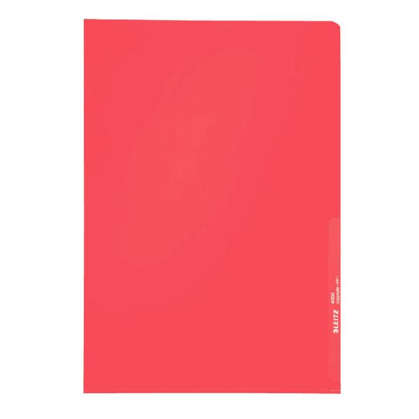 #100xSichthülle A4 rot genarbt