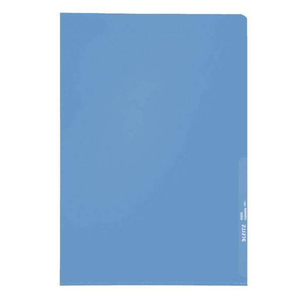 #100xSichthülle A4 blau genarbt