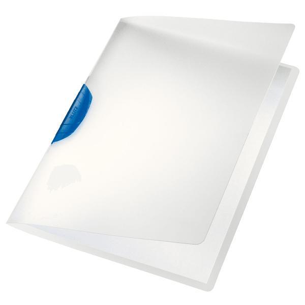 LEITZ Klemmhefter ColorClip, DIN A4, PP, blauer Clip