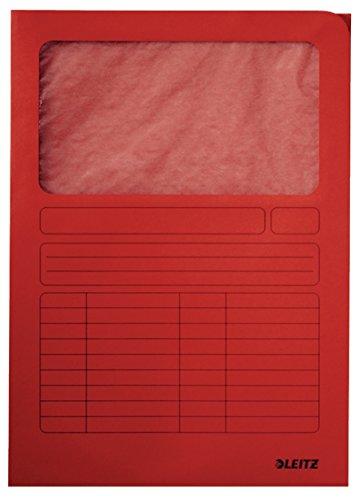 #100xLEITZ Sichtmappe, DIN A4, Karton, mit Sichtfenster,...