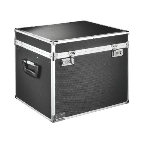 LEITZ Hängeregistratur-Box, schwarz/chrom