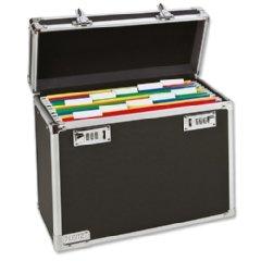 LEITZ Mobile Hängeregistratur-Box, schwarz/chrom