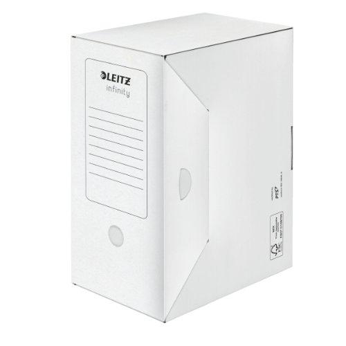 #10xLEITZ Archiv-Schachtel Infinity, weiß, säurefrei, (B...