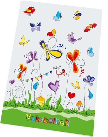 RNK Verlag Vokabelheft Schmetterlinge, DIN A5, 2 Spalten