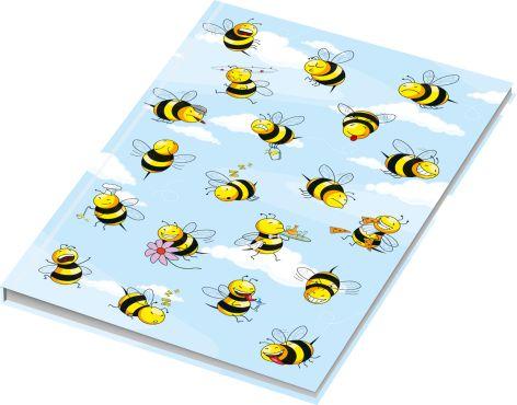 RNK Verlag Notizbuch Crazy Bees, DIN A4, blanko