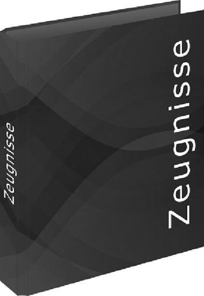 RNK Verlag Zeugnisringbuch carbon black, DIN A4