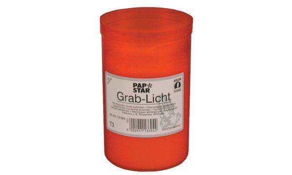 PAPSTAR Grablicht T3, Durchmesser: 64 mm, rot
