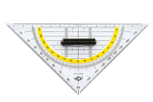 WEDO Geodreieck, Hypotenuse 160 mm, mit abnehmbarem Griff