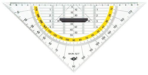 #10xGeometrie-Dreieck 25cm mit abnehmbarem Griff