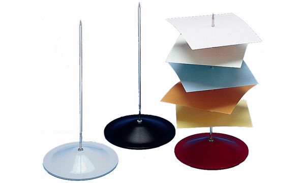 #10xWEDO Zettelspießer, Metall, farbig sortiert, Höhe: 1...
