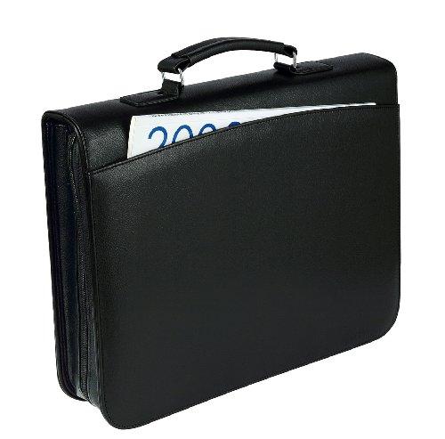WEDO Orgamappe, DIN A4, genarbtes Kunstleder, schwarz