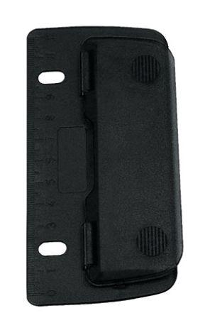 WEDO Taschenlocher, Stanzleistung: 3 Blatt, schwarz