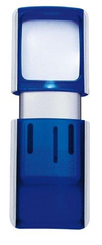 WEDO Rechtecklupe mit LED-Beleuchtung, transluzent-blau