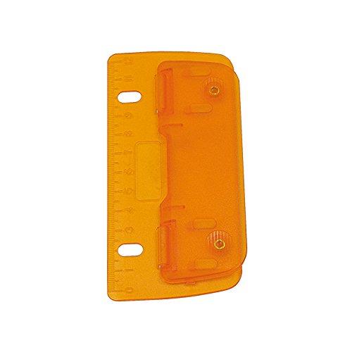 WEDO Taschenlocher, Stanzleistung: 3 Blatt, ICE orange