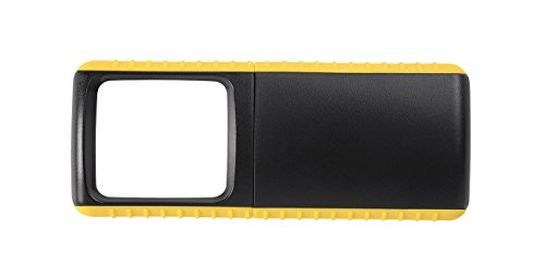 WEDO Outdoor-Rechtecklupe mit LED-Beleuchtung, gelb