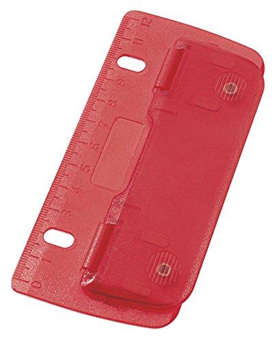 WEDO Taschenlocher, Stanzleistung: 3 Blatt, ICE rot