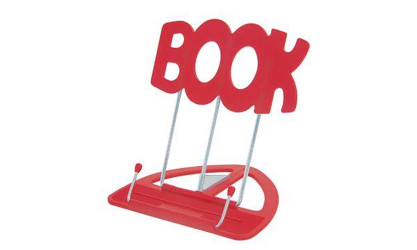WEDO Leseständer BOOK, mit Kunststoffunterteil, rot