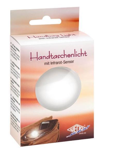 WEDO LED-Handtaschenlicht in Kreisform, mit Infrarot-Sensor