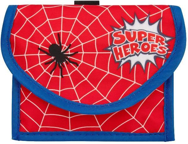 WEDO Brustbeutel Spider, 3 Fächer, aus Polyester, rot
