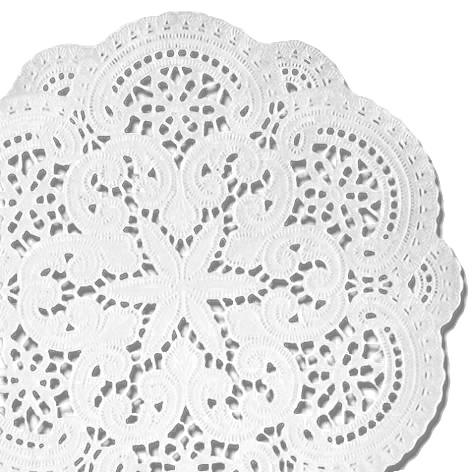 Tassen-Deckchen 10Cmd 24Er Weiss