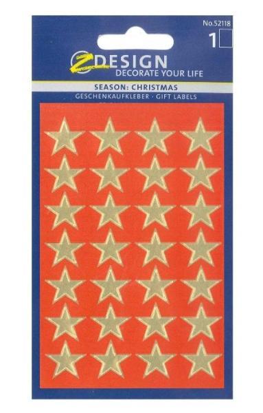 AVERY Zweckform ZDesign Weihnachts-Sticker Sterne, gold