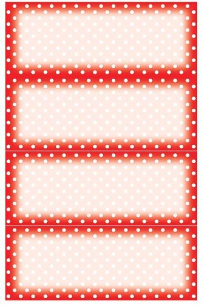 AVERY Zweckform Z-Design Haushaltsetiketten rot-weiß