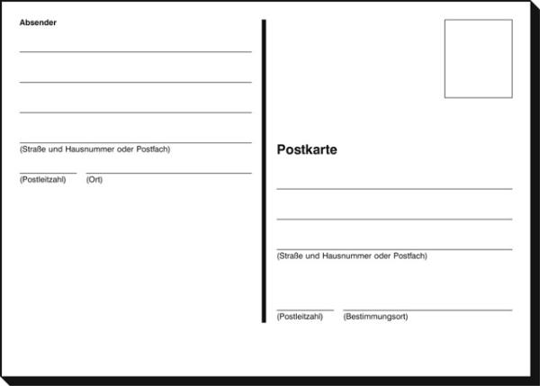 #100xPostkarte Ps600 Holzfrei A 100