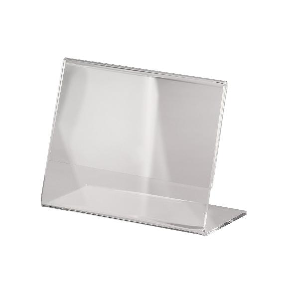 sigel Tischaufsteller, Acryl, DIN A7 quer, schräg, glasklar