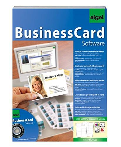sigel BusinessCard Gestaltungssoftware, für Visitenkarten