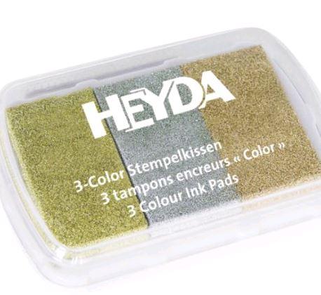 HEYDA Stempelkissen 3-Color, gold/silber/kupfer
