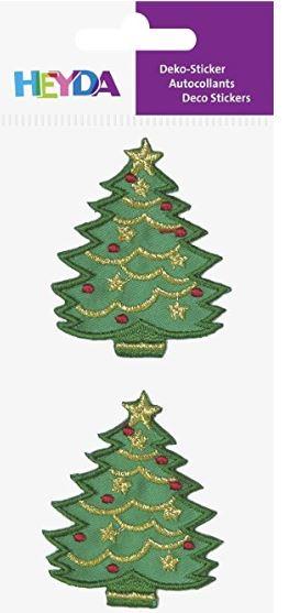 HEYDA Weihnachts-Textilsticker Weihnachtsbaum