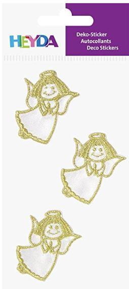 HEYDA Weihnachts-Textilsticker Engel