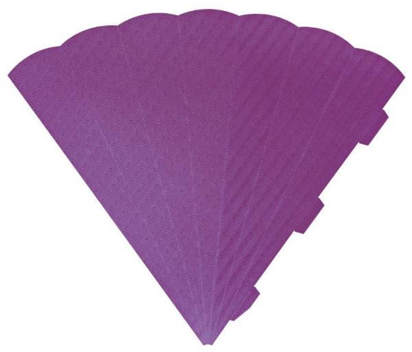HEYDA Schultüten-Zuschnitt, 6-eckig, 69 cm, flieder