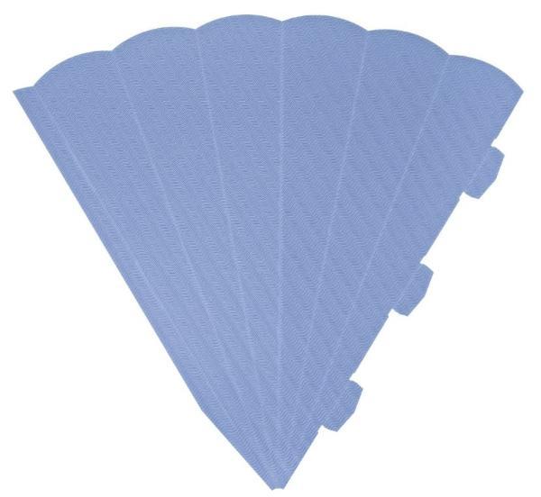 HEYDA Schultüten-Zuschnitt, 6-eckig, 69 cm, hellblau