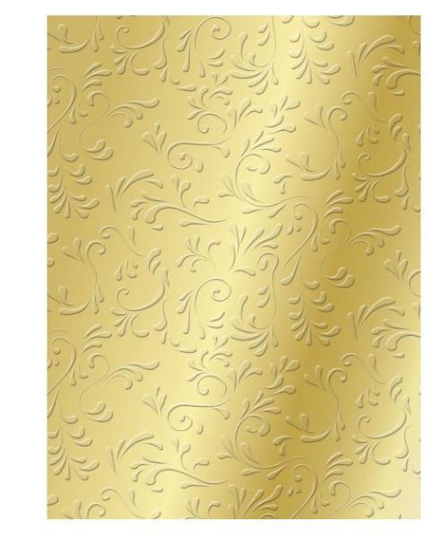 #20xHEYDA Bastelkarton Roma, DIN A4, 220 g/qm, gold