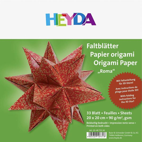 HEYDA Origami Faltblätter Roma, (B)200 x (H)200 mm