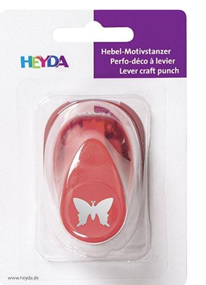 HEYDA Motiv-Locher Schmetterling, klein, Farbe: rot