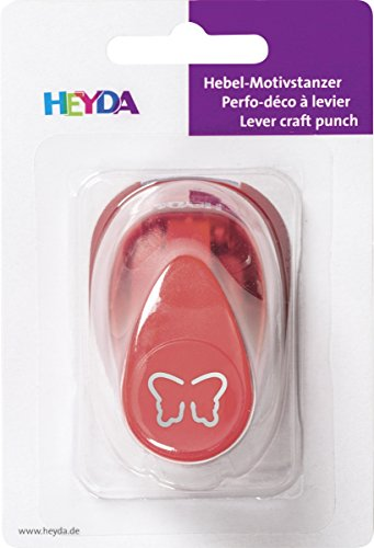 HEYDA Pop Up Motiv-Locher Schmetterling, klein, Farbe: rot