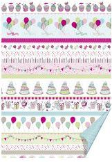 #10xHEYDA Bastelkarton Party - Linien pastell