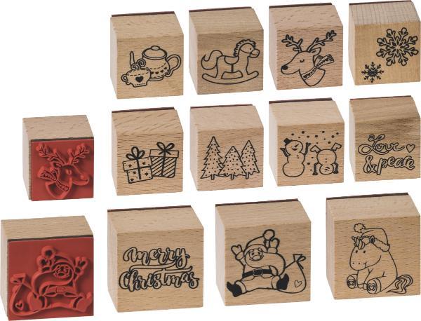 HEYDA Stempelset Christmas / Weihnachten 11 Stempel