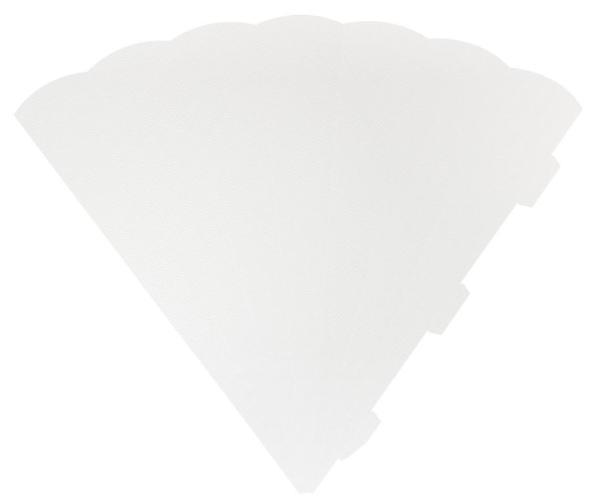 HEYDA Schultüten-Zuschnitt, 6-eckig, 69 cm, weiß