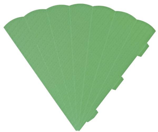 HEYDA Schultüten-Zuschnitt, 6-eckig, 69 cm, grün