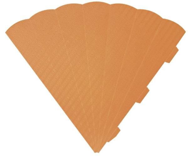 HEYDA Schultüten-Zuschnitt, 6-eckig, 69 cm, orange