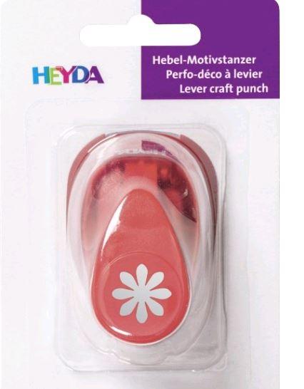HEYDA Motiv-Locher Blume I, klein, Farbe: rot