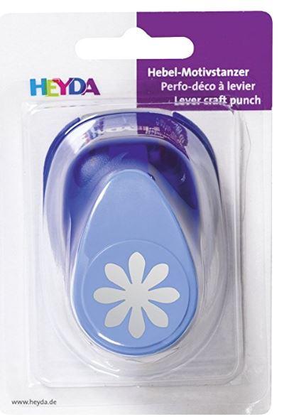 HEYDA Motivstanzer Blume I, groß, Farbe: blau