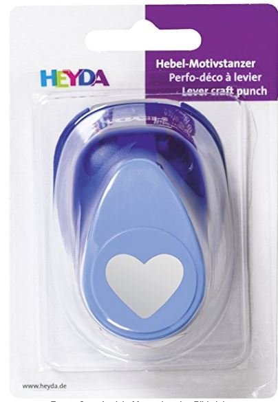 HEYDA Motivstanzer Herz, groß, Farbe: blau